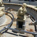 instalacion de fuente en acero inoxidable